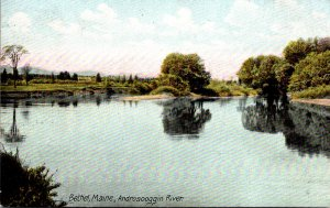 Maine Bethel Scene On The Androscoggin River 1907
