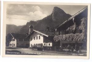 Oberammergau Strassenpartie mit Kofel RPPC Huber Real Photo