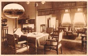 Japan Old Vintage Antique Post Card Receiving Room, Nara Hotel 1968