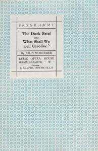 Dock Brief Drama Maurice Denham Mr Justice Ronnie Barker Rare London Theatre ...