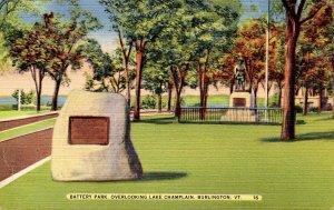 VT - Burlington. Battery Park