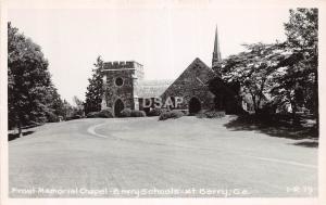 Georgia Ga Real Photo RPPC Postcard c1940s MT BERRY Frost Memorial Chapel School