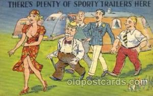 Theres Plenty of Sporty Trailers Here Comic Postcard Post Card