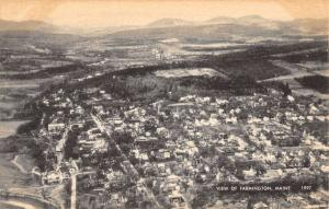Farmington Maine Birdseye View Of City Antique Postcard K86145