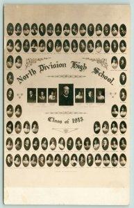 Chicago IL~North Division High School~Class of 1913 Pics Names~Teachers~RPPC