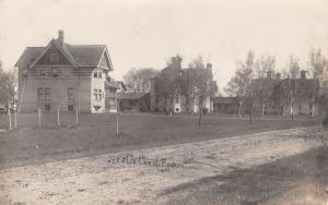 Jefferson WI Dirt Road Past the County Poor Farm~Real Photo Postcard~RPPC c1908