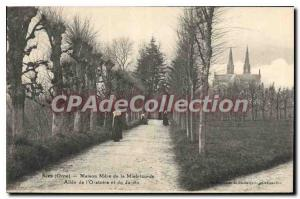 Postcard Old Mother Sees Orne house Allee Mercy Oratory and garden
