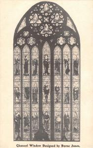 uk31828 chancel window designed by burne jones real photo uk
