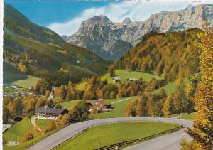 Deutsche Alpenstrasse Ramsau mit Reiteralpe Germany