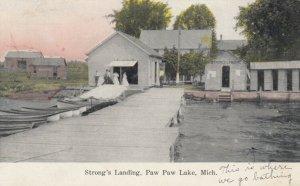 PAW PAW , Michigan , PU-1908 ; Strong's Landing , Paw Paw Lake