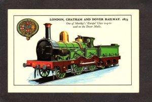 UK London Chatham and Dover Railway Railroad Train England British Postcard