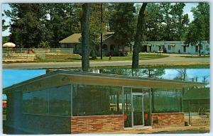 CALHOUN, Georgia  GA   Roadside DUFFY'S COURT & Restaurant ca 1960s Postcard
