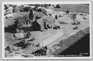 Sanford-Orlando Florida~Midget City Country Club~1940s Real Photo Postcard RPPC