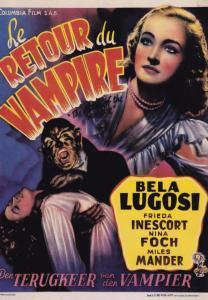 The Return Of The Vampire Bela Lugosi French Cinema Poster Postcard