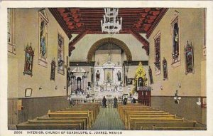 Mexico Ciudad Juarez Interior Church Of Guadelupe