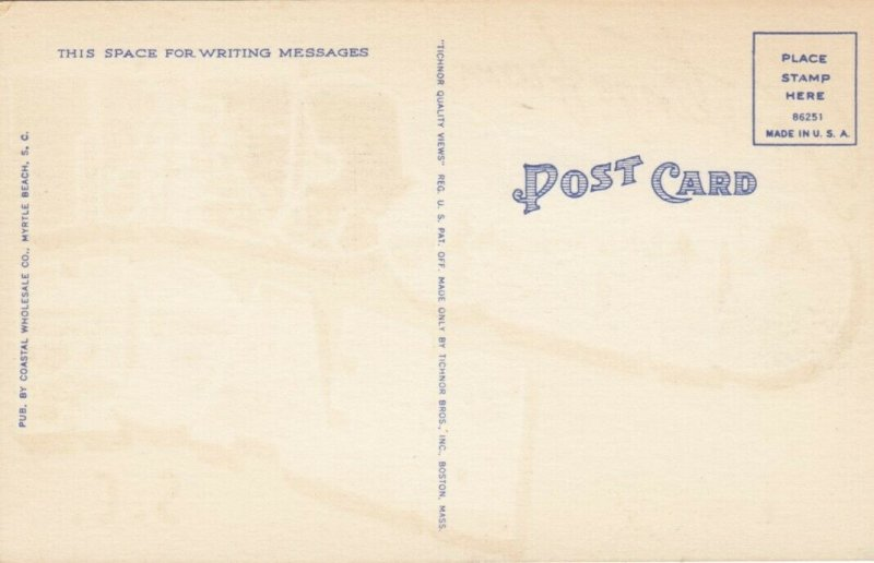 Large Letter Greeting ,  OCEAN BEACH  , South Carolina, 1930-40s