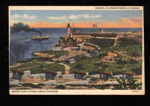 019118 LIGHTHOUSE in HABANA CUBA Morro Castle Vintage PC #2
