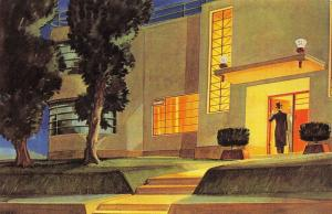Nostalgia Postcard 1930 Art Deco Architecture by Maxwell Foster Repro Card NS13