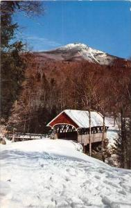 19913 NH, Franconia Notch, Covered Bridge at the Flume