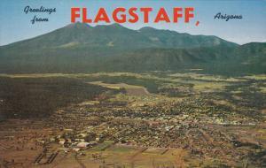 FLAGSTAFF, Arizona, 1940-1960's; Aerial View of Flagstaff, Racing Track