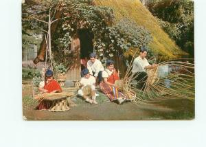 Postcard Madeira Portugal Natural Thatched Roof Basket Making Weaving   # 3931A
