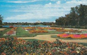 REGINA, Saskatchewan, Canada 50-60s ; Flower Gardens in front of Legislative ...