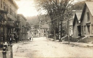 Bethel VT Main Street DR. R. M. Chase Hardware Store Baby Carriage RPPC