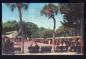 St Petersburg, Florida/FL Postcard, Mirror Lake Shuffleboard Courts, 1960!