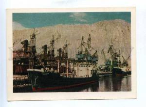 200831 Turkmenistan Krasnovodsk seaport ships postcard