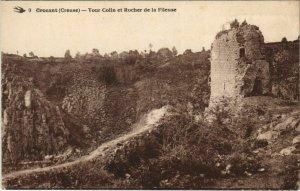 CPA CROZANT Tour Colin et Rocher de la Fileuse (1144215)
