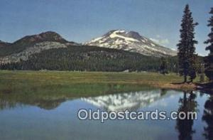 South Sister Mountain, Sparks Lake Bend OR Writing On Back