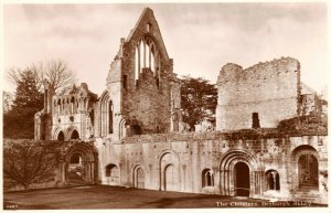 Vintage Scotland Real Photo Postcard, The Cloisters, Dryburgh Abbey GN1
