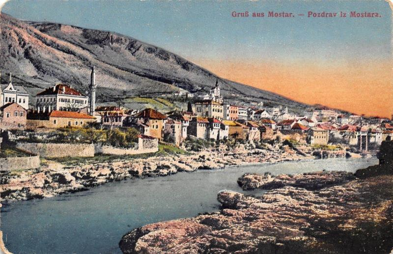 Bosnia and Herzegovina Gruss aus Mostar Pozdrav iz Mostara General view