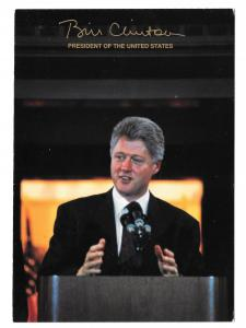 Bill Clinton President United States Speaking Politics Arkansas Vtg 4X6 Postcard