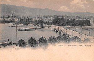Zurich Quaibrucke und Uetliberg Switzerland Unused