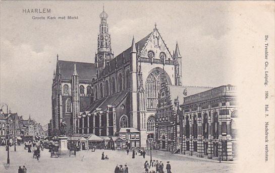 Haarlem , Netherlands , 00-10s ; Groote Kerk met Markt