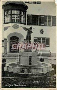Old Postcard St Gilgen Mozartbrunnen