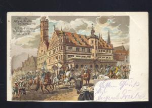 1900 ROTHENBURG GERMANY TILLY'S FINZUG GERMAN ANTIQUE VINTAGE POSTCARD