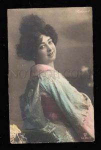 019500 SAHARET Famous Dancer in KIMONO Geisha Old PHOTO PC