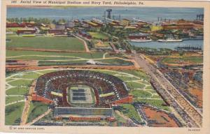 Pennsylvania Philadelphia Aerial View Of Municipal Stadium and Navy Yard Curt...