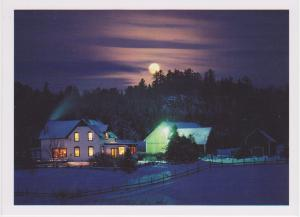 MOON OVER FARM AT CANTLEY, QUEBEC