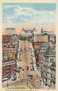 ALBANY, New York, 00-10s; Looking Up State Street, Trolleys