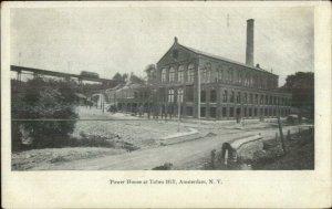 Amsterdam NY Power House Tubes Hill c1905 Postcard