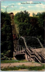 Johnstown, Pennsylvania Postcard Incline Plane Funicular Railroad Train 1913