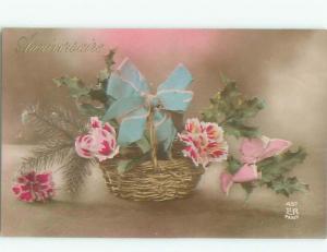 tinted rppc c1910 BEAUTIFUL FLOWERS AC8959