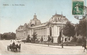 Paris. Le Petit Palais. Cart Horses Old vintage French postcard
