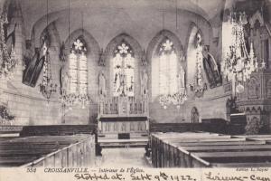 CROISSANVILLE, France, 1900-1910's; Interieur De L'Eglise