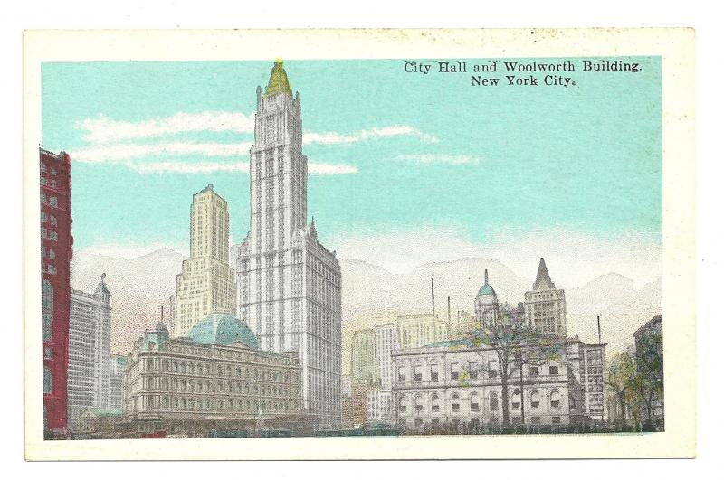 City hall and Woolworth Building, New York City