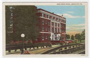 Penn Grove Hotel Grove City Pennsylvania postcard