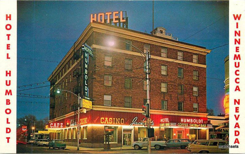1960s Hotel Humboldt Night Neon Winnemucca Nevada postcard 10160 autos